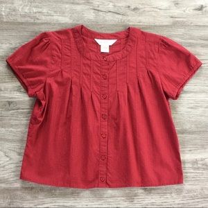 Northern Reflections - Cotton Button Front Top